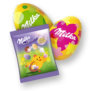 MILKA EGG HUNT BASKET 162G