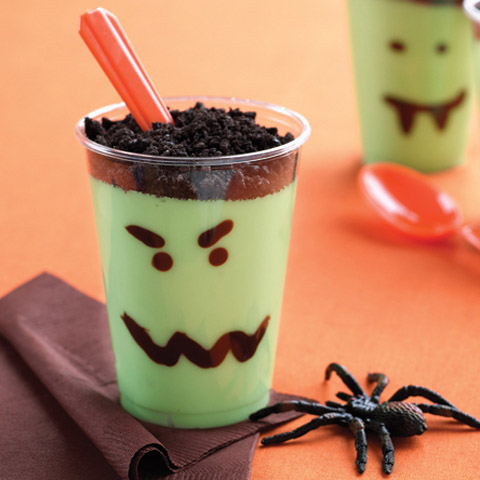 Scary Pudding Cups Recipe