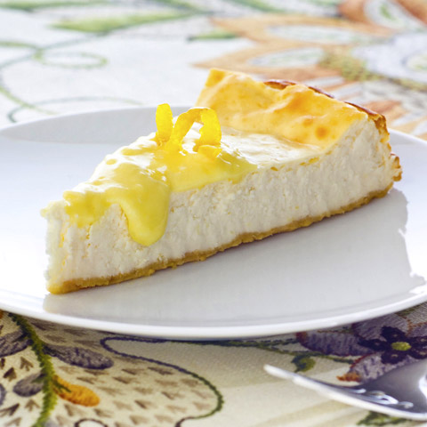 Lemon Curd-Topped Cheesecake Recipe