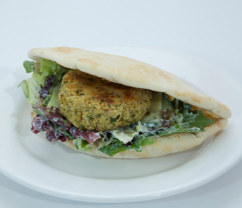 Falafel Pita Sandwich with PREMIUM Cracker Meal Recipe