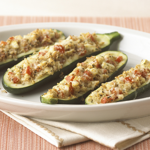 RITZ Stuffed Zucchini Boats Recipe