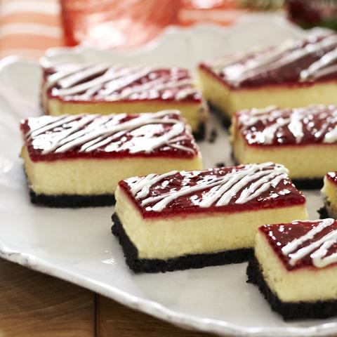 Barres de gâteau au fromage au chocolat blanc et à la framboise OREO Recipe