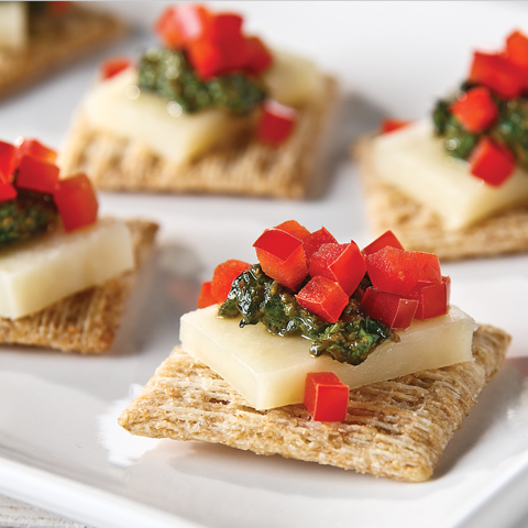 TRISCUIT Cheese & Pesto Bites Recipe