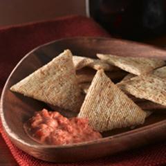 TRISCUIT avec trempette facile aux poivrons rouges  Recipe