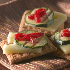 TRISCUIT Mediterranean Vegetable Topper Recipe
