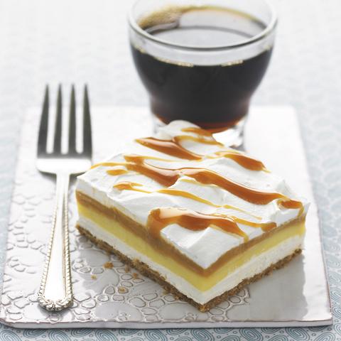 Carrés à la crème caramel P'TITE ABEILLE recette