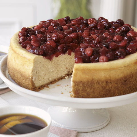 Cranberry-Glazed Cinnamon Cheesecake Recipe