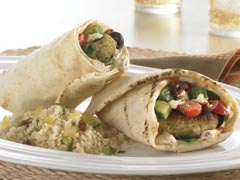 Falafel Pita Wrap with PREMIUM Cracker Meal Recipe
