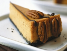 Pumpkin Cheesecake made with OREO Base Cake Recipe