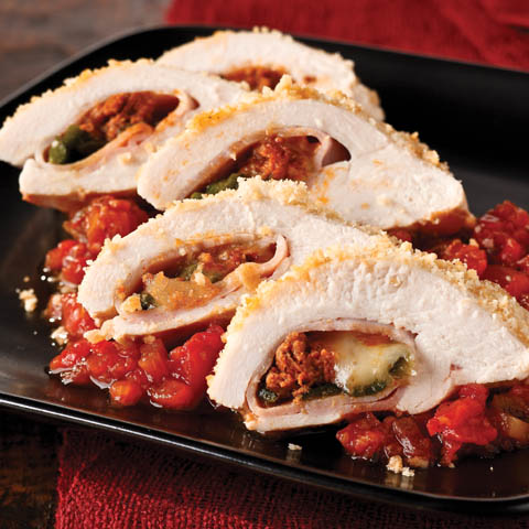 Chorizo & Poblano Stuffed Chicken Breast Recipe
