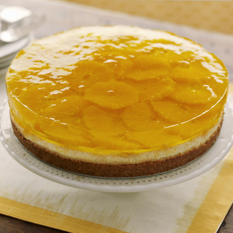 Citrus-Gelatin Layered Cheesecake Recipe