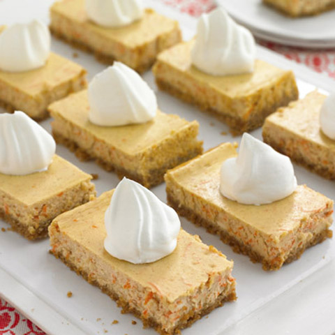 Carrot Cheesecake Bars Recipe