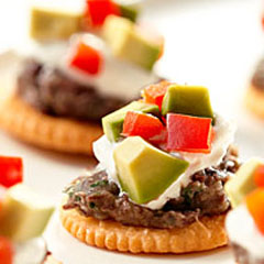 Island Black Bean Hummus Toppers Recipe