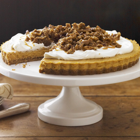 Caramel-Pumpkin Mousse Tart with Pecan Crumble Recipe