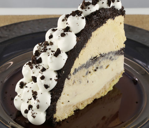 Layered Ice Cream Coffee Bombe made with OREO Cookie Pieces Recipe
