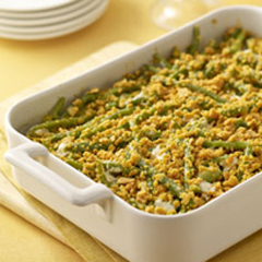 Creamy Garlic-Green Bean Casserole Recipe