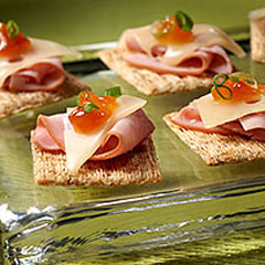 TRISCUIT Ham & Swiss Melts Recipe