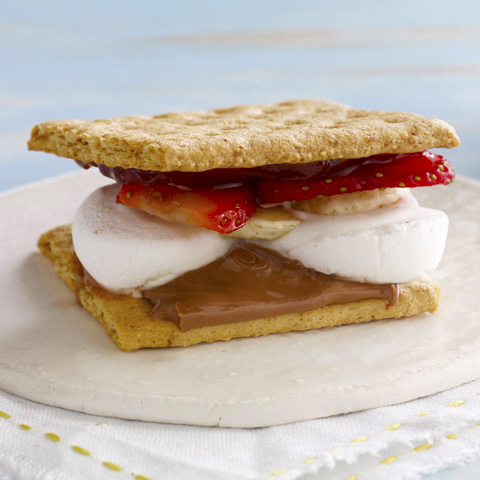 Strawberry-Banana S'Mores Recipe