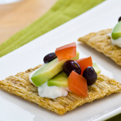 TRISCUIT Avocado & Tomato Toppers Recipe