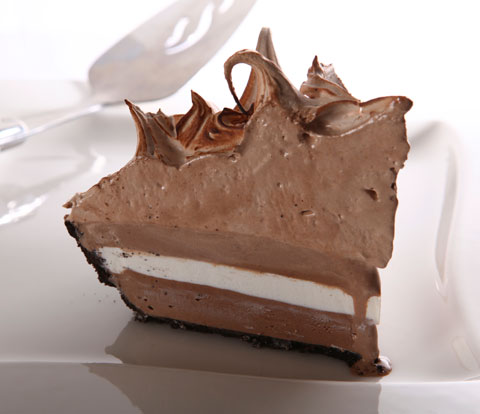 Toasted Mexican Chocolate Ice Cream Pie made with OREO Pie Crust and Variegate Recipe