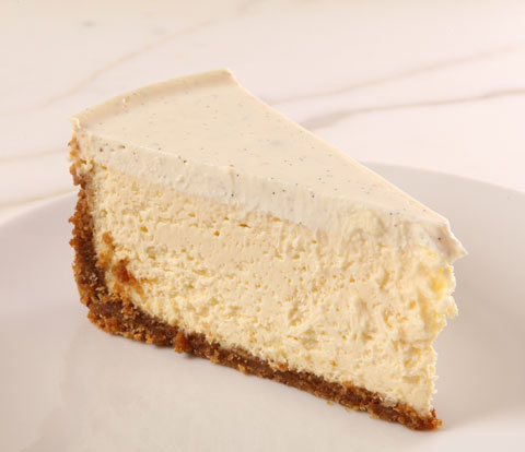 Vanilla Bean Sour Cream-Topped Cheesecake with NABISCO Grahams Recipe