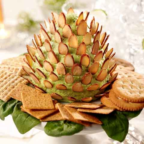 Pinecone Spinach-Cheese Spread Recipe
