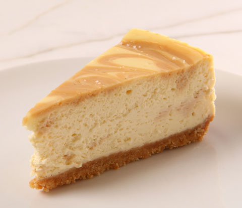 Salted Caramel Cheesecake made with RITZ Crackers Recipe