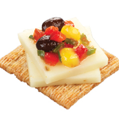 TRISCUIT Pepper Jack & Corn Salsa Topper Recipe