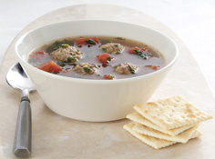Hearty Meatball-Spinach Soup Recipe