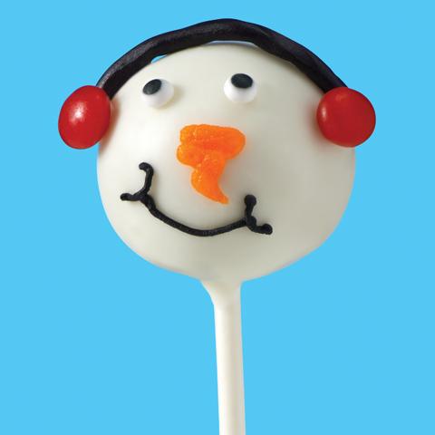 OREO Snowmen Cookie Ball Pops Recipe