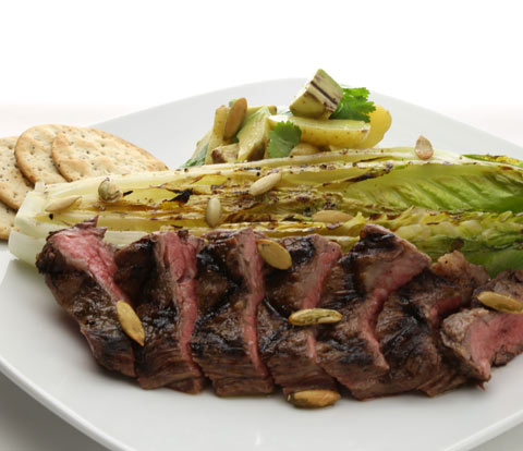 Chile-Lime Grilled Steak & Romaine Salad with RITZ Crackers Recipe