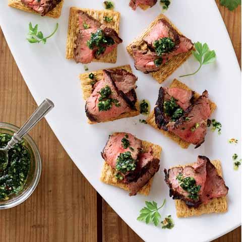 Roasted Garlic Chimichurri Steak Topper Recipe