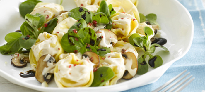 miracel whip rezept miracel whip tortelloni feldsalat mit champignons. Black Bedroom Furniture Sets. Home Design Ideas