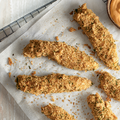TRISCUIT-Coated Rosemary & Olive Oil Chicken Tenders