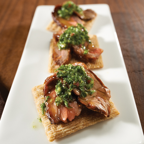 TRISCUIT avec garniture au steak chimichurri Recipe