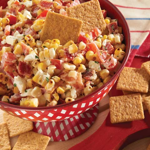 Grilled Corn & Bacon Dip Recipe