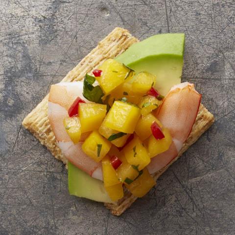 Shrimp & Avocado Toppers Recipe