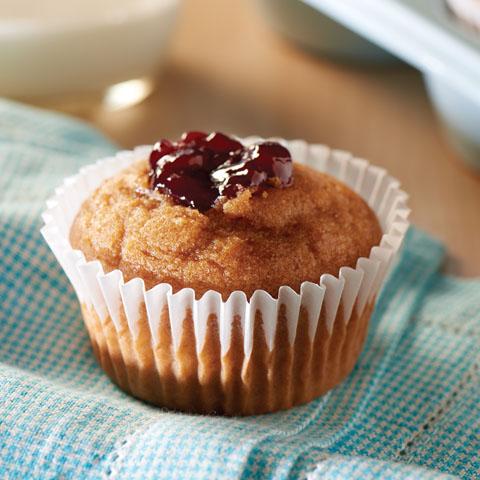 PB & J Graham Muffins Recipe