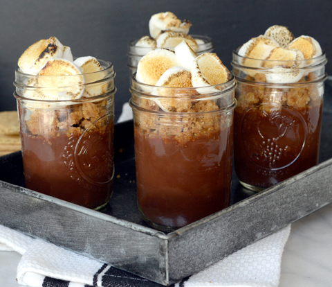 S'mores Pots de Creme with HONEY MAID Graham Crumble Recipe