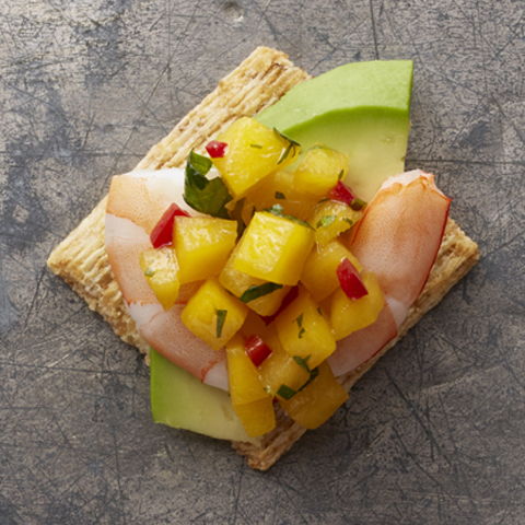 Shrimp-Mango Salsa TRISCUIT Toppers Recipe