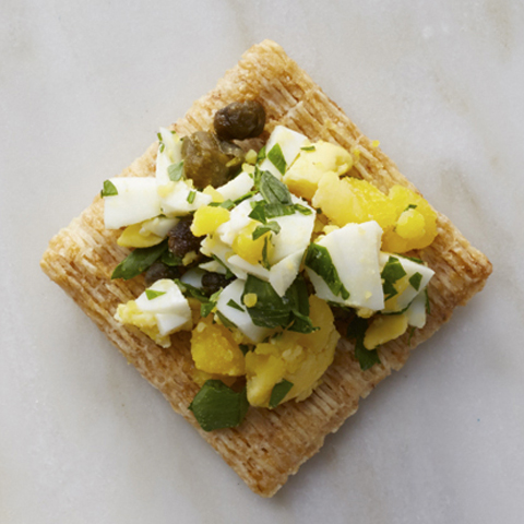 TRISCUIT Egg Bites with Capers Recipe