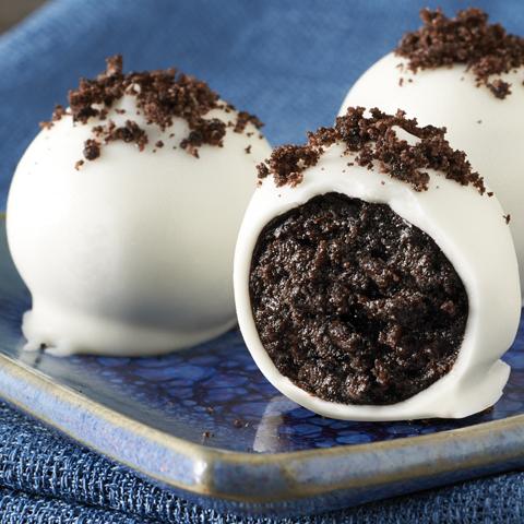 Boules aux biscuits OREO au chocolat blanc