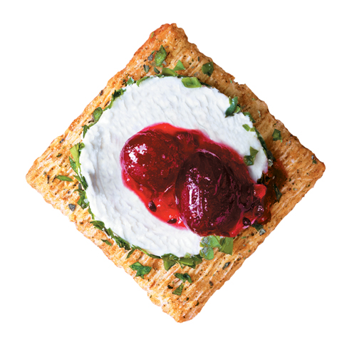 TRISCUIT Herb Goat Cheese & Cranberry Topper Recipe