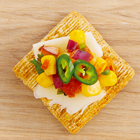 TRISCUIT Corn Salsa Toppers Recipe