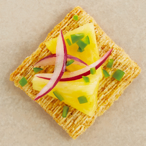 Pineapple Salsa TRISCUIT Toppers Recipe