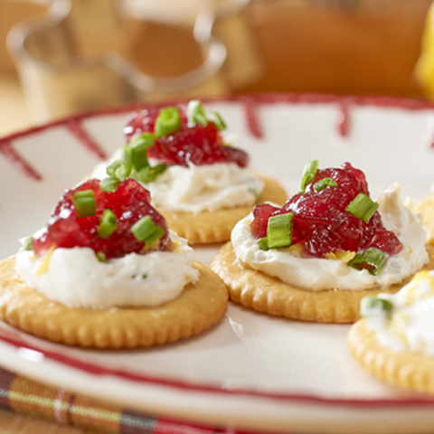 RITZ Creamy Cranberry Topper Recipe