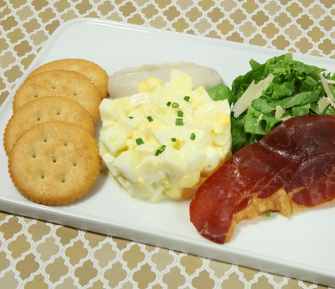 Truffled Egg Salad with Crispy Prosciutto and RITZ Crackers Recipe