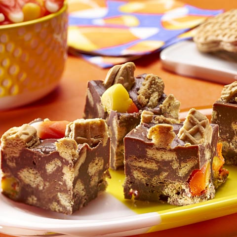 NUTTER BUTTER Candy Corn Fudge Recipe