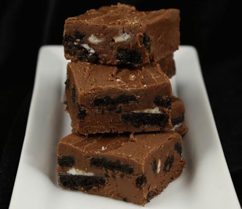 Chocolate Fudge made with OREO Cookie Pieces Recipe