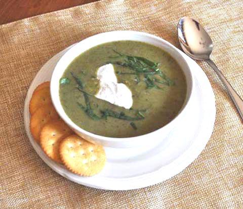 Watercress & Zucchini Soup with RITZ Crackers Recipe